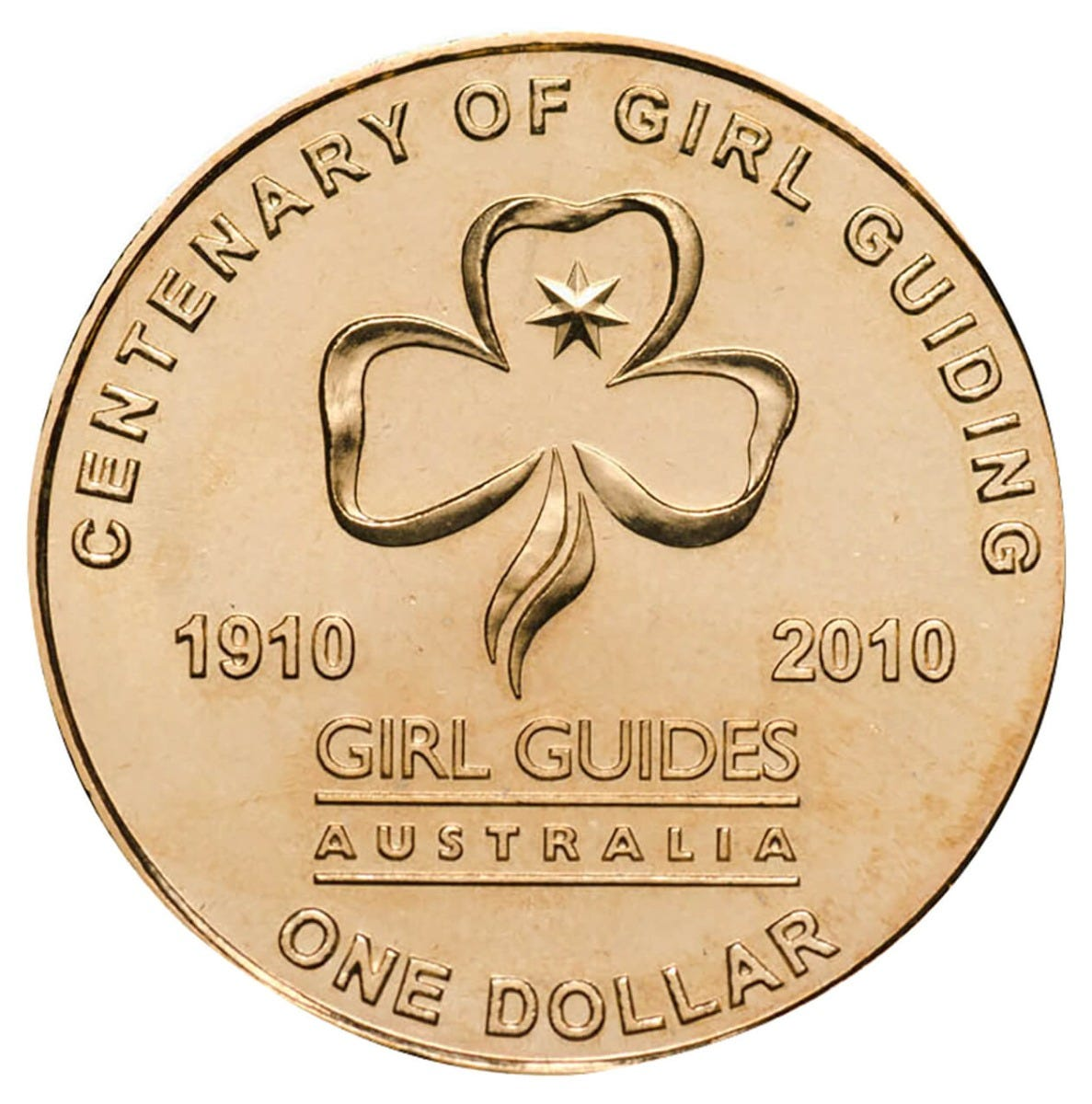 Centenary Of Girl Guides 2010 1 Al Br Coin Pack