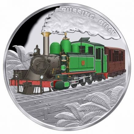 Puffing Billy 2020 $1 1oz Silver Proof Coin