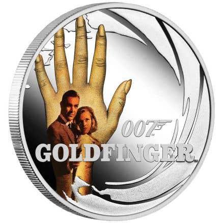 James Bond Goldfinger 2021 50c Colour 1/2oz Silver Proof Coin
