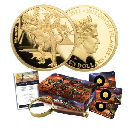 The Age of Dinosaurs Gold Coin Collection