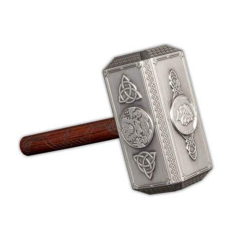 Thor's Hammer 2021 $10 Half Kilo Silver Antique Coin