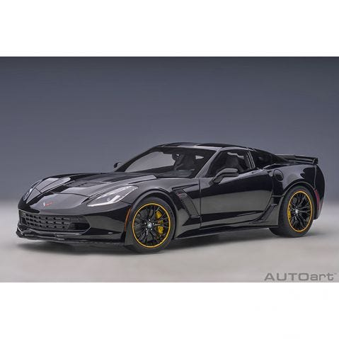 Chevrolet Corvette (C7) Z06 C7.R Edition - Gloss Black - 1:18 Model Car