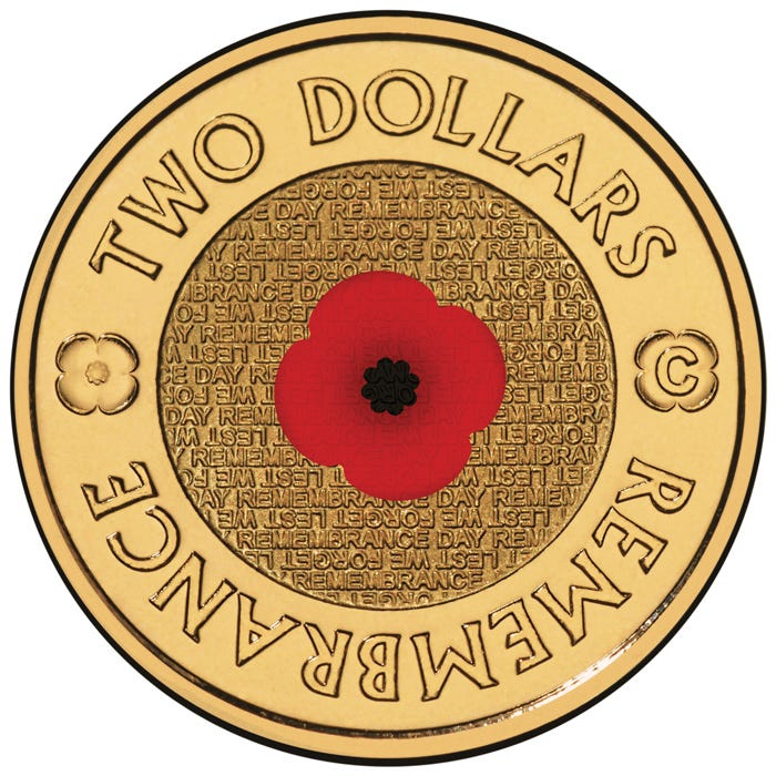 2012 $2 Remembrance Day 'C' Mintmark Unc