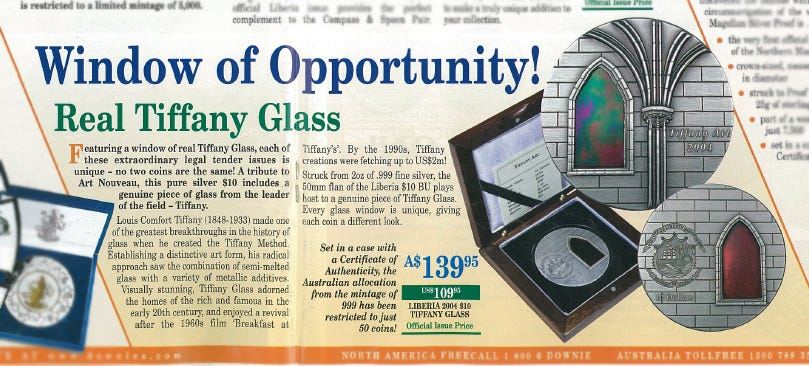The original Tiffany Glass offer made way back in 2004!