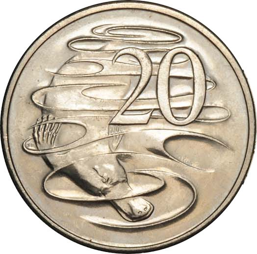 Twenty Cents 1981 Canadian Mint 3.5 claw