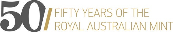 Royal Australian Mint Logo 50 Years