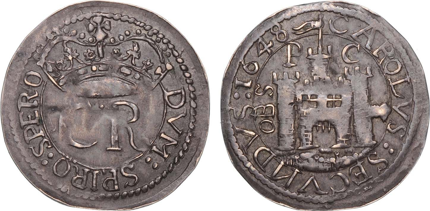 Lot 2689 - English Civil War, Pontefract Besieged (June 1648-March 1648/9) Round Shilling 1648