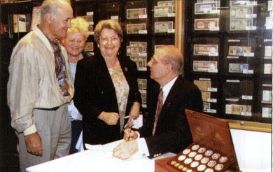 Stuart Devlin meets collectors at the Downies store