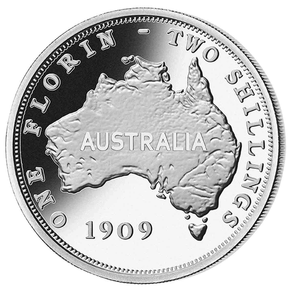 1909 Australian Pattern Florin
