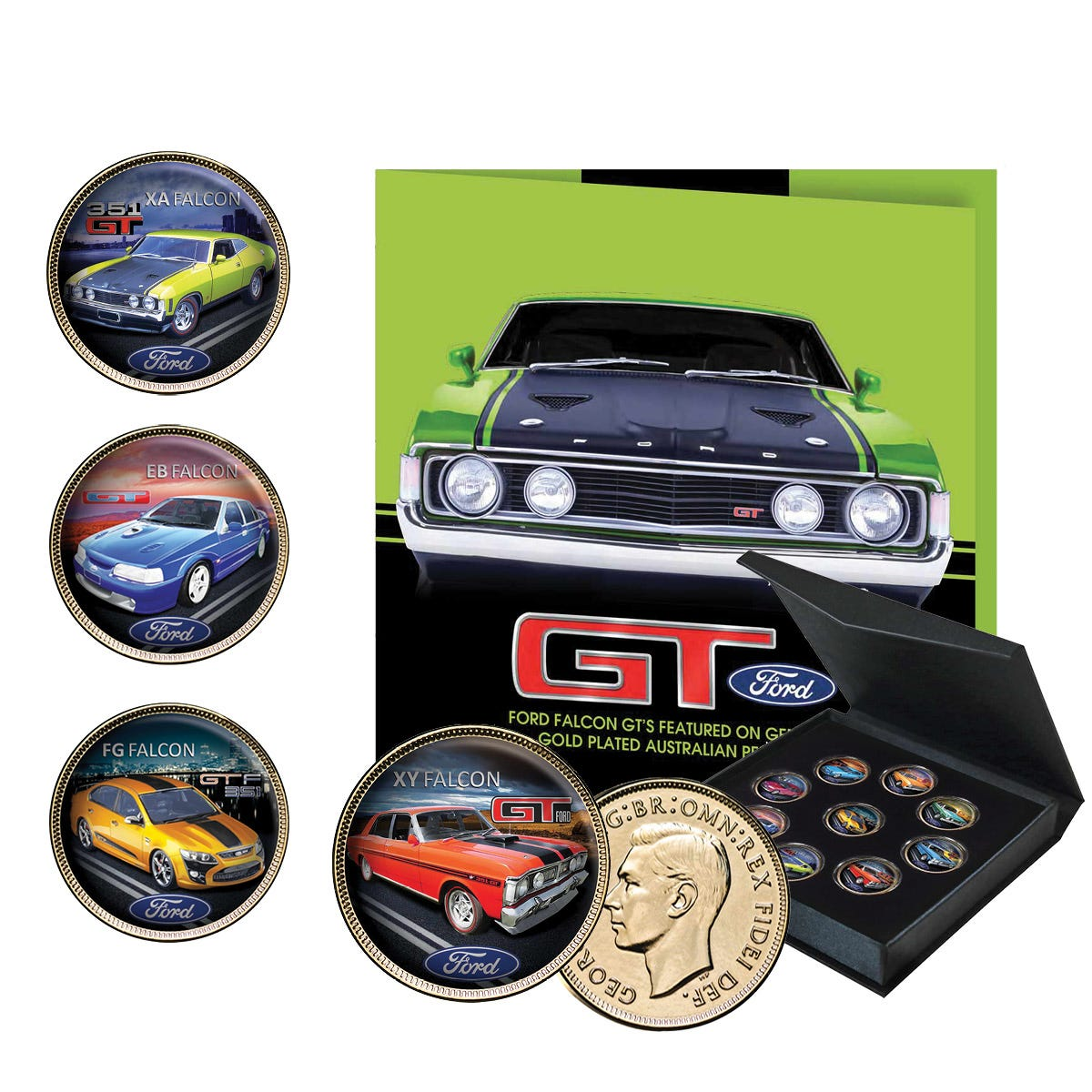 Ford GT Gold-Plated Enamel Penny Collection