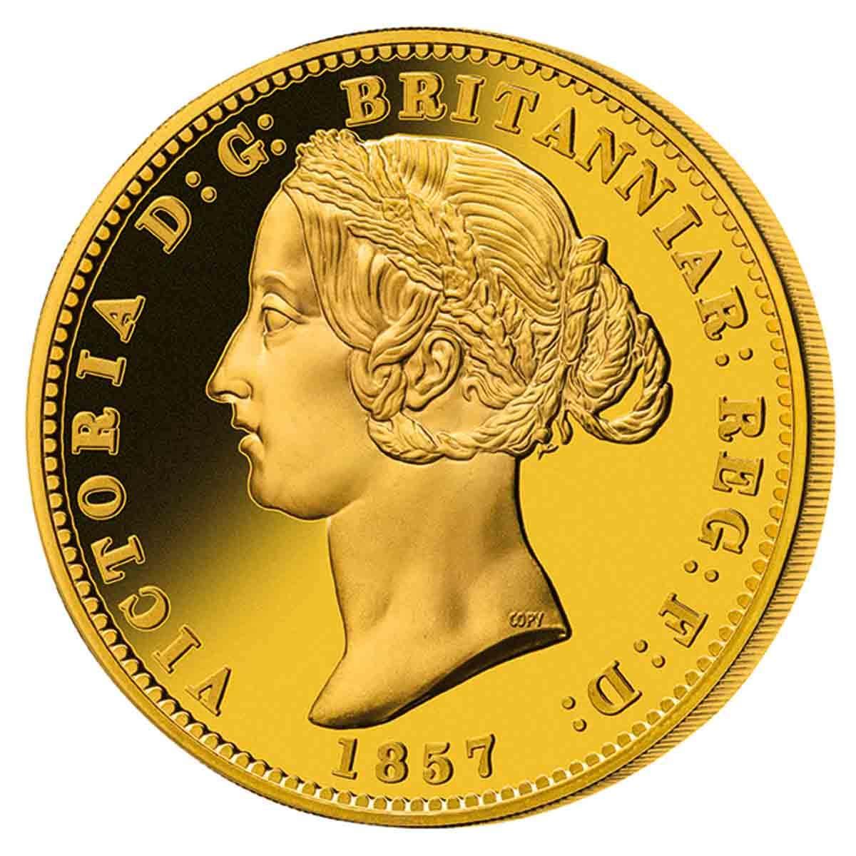 1857 Sydney Mint Sovereign Type 2