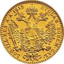 Austria 1915 Ducat Gold Coin (reverse)